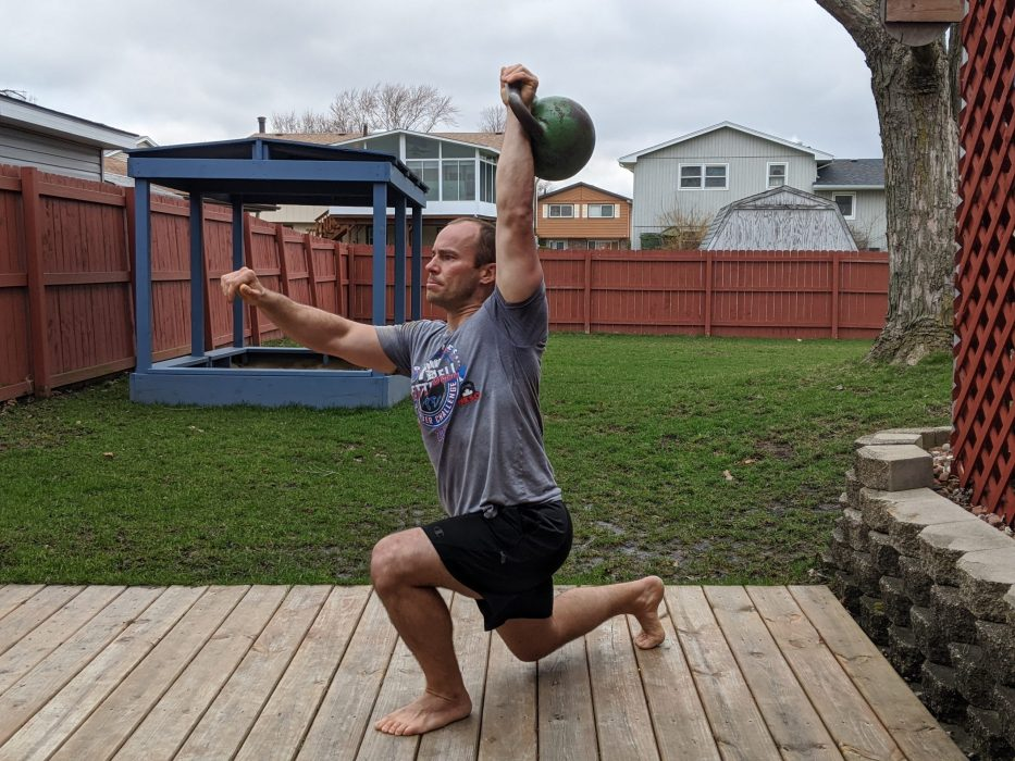 How To Do A One Arm Overhead Lunge