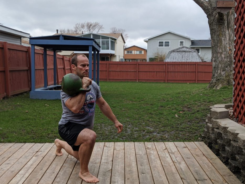 one arm rack lunge