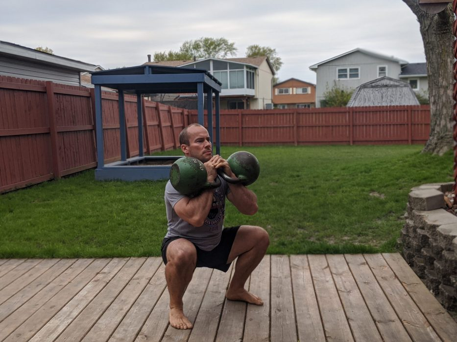 double front squats